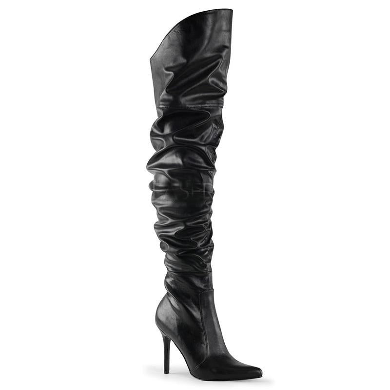 Mile High Thigh Boots - Creeping Midnight