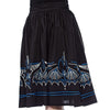 Batty Pinstripe Spooksville Skirt - Blue/Black