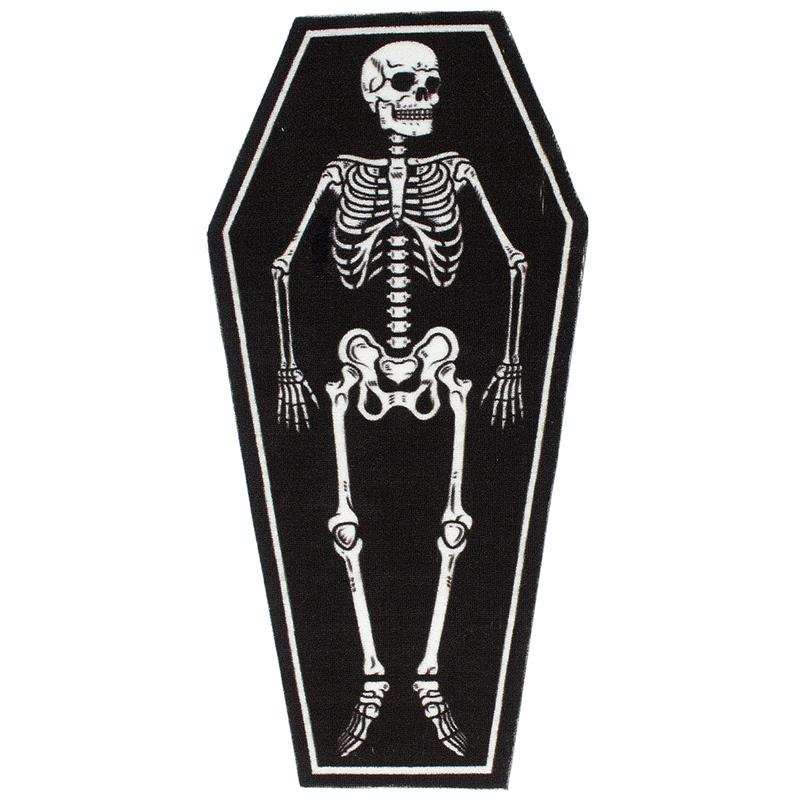 Coffin Shape Skeleton Rug