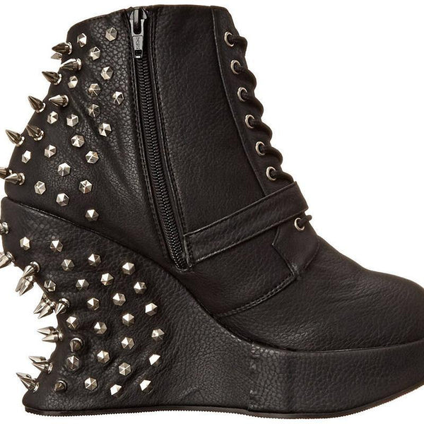 Size 9 - Spiked Charmer Ankle Boots