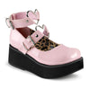 Heart Buckled Mary Janes - Pink