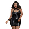 Leather Look Collared and Cuffed Chemise