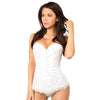 Size Large - Frosted Floral White Corset