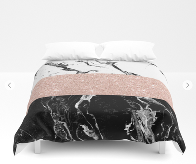 Ross Gold Marble Duvet Cover | Home Decor Trended Gifts