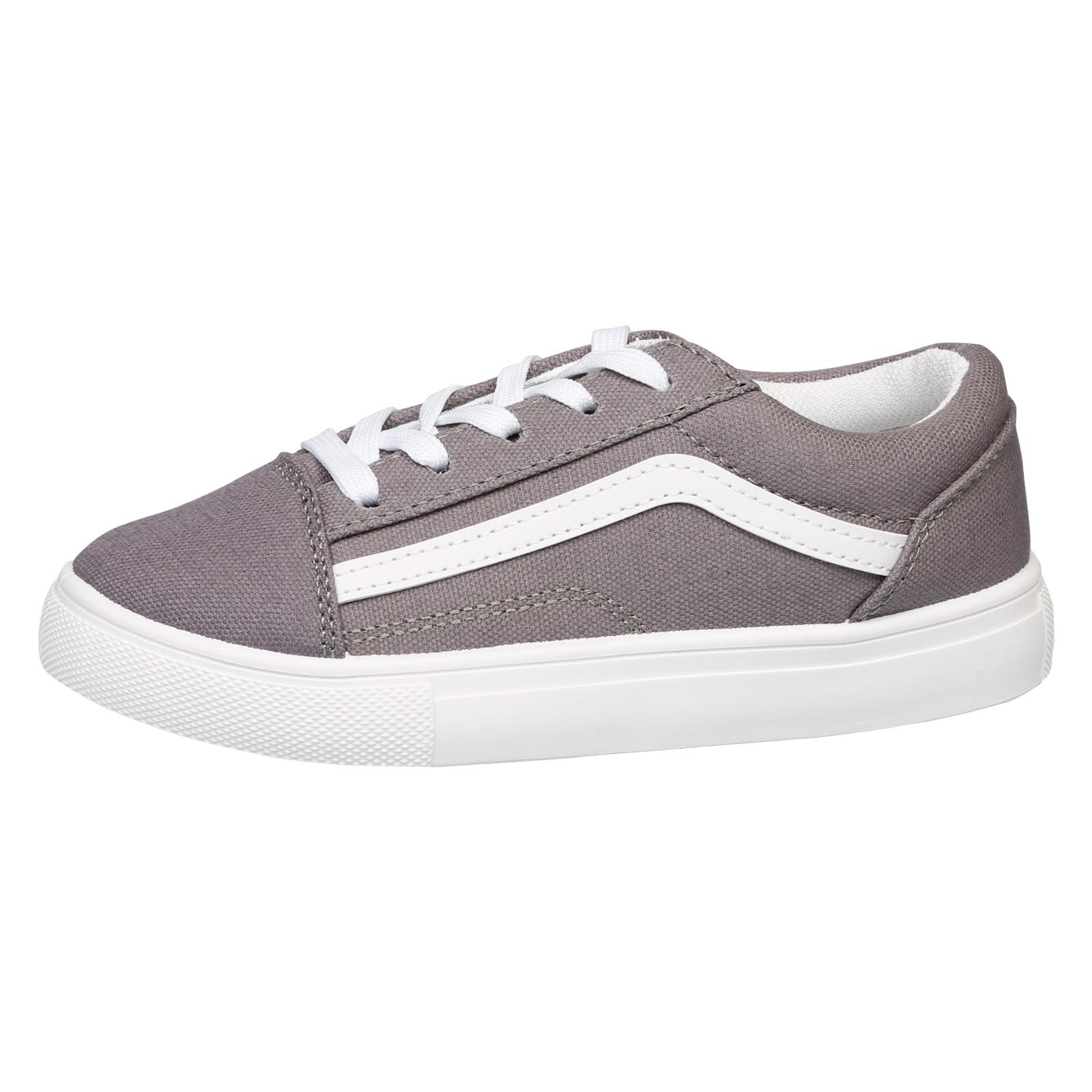 Hailee Girls Lace Up Trainers in Grey - Feet First Fashion
