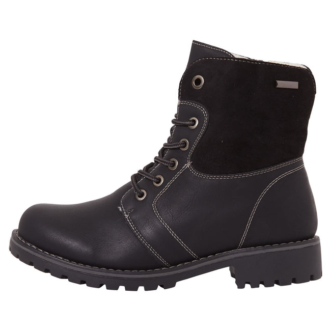Monserrat Zip Up Combat Boots in Black Nubuck - Feet First Fashion