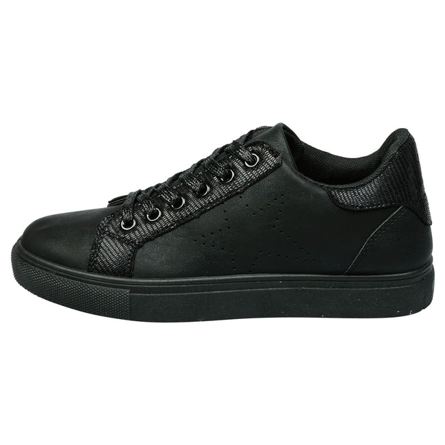 Drake Star Shimmer Trainers in Black