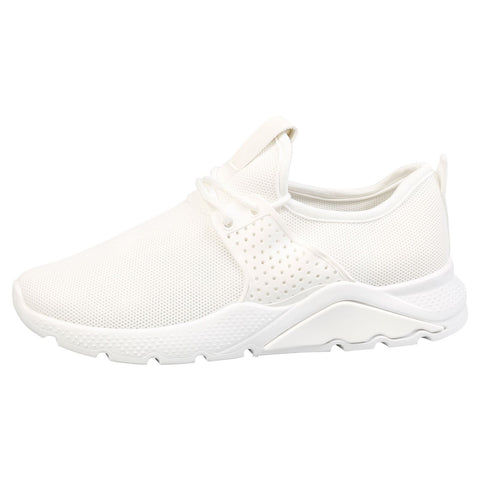 Emmie Chunky Lace Up Trainers in White Patent