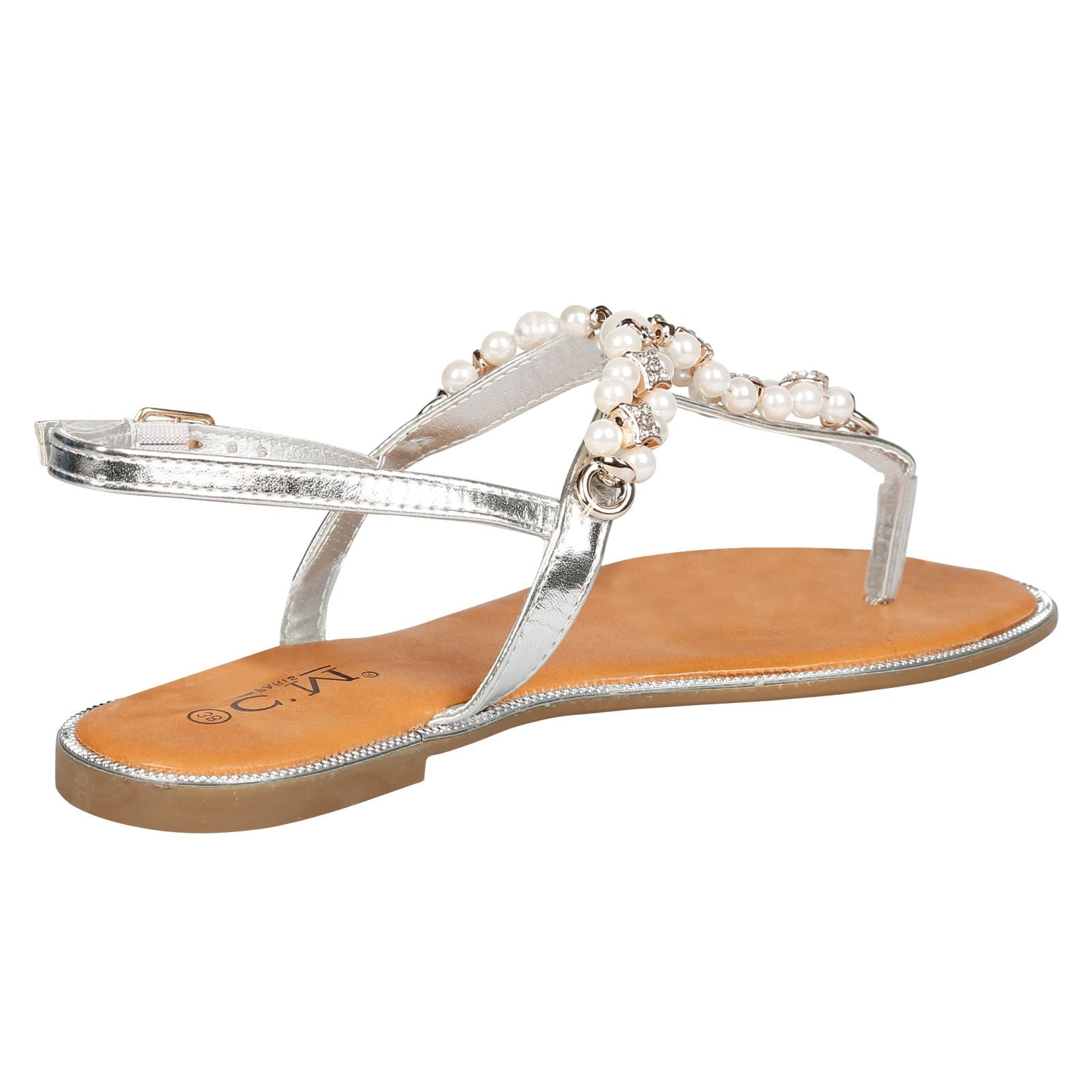 Julissa Pearl Sandals in Silver