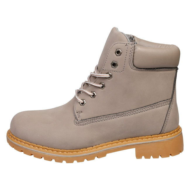 Tiana Lace Up Ankle Boots in Grey - Feet First Fashion