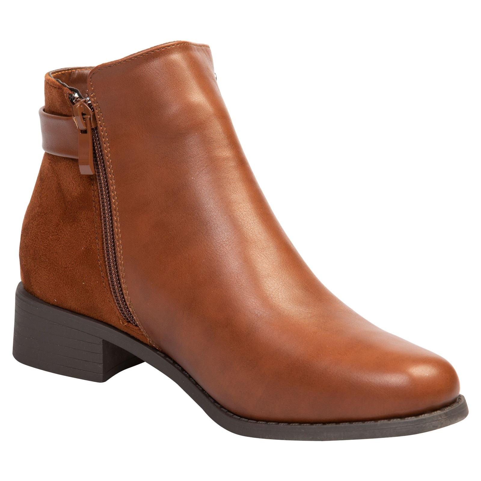 Daleyza Two-toned Ankle Boots in Camel - Feet First Fashion