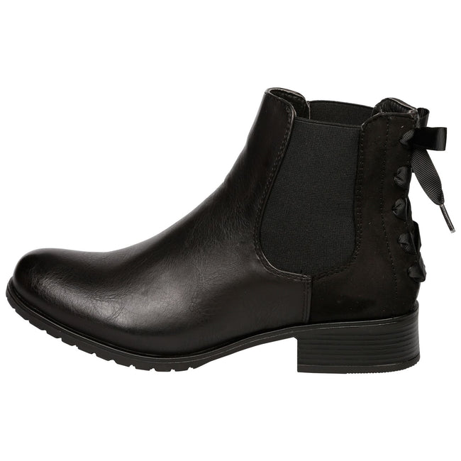 Alessia Two Tone Ankle Boots in Black - Feet First Fashion