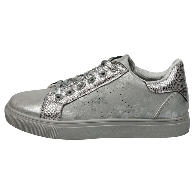 Drake Star Shimmer Trainers in Grey