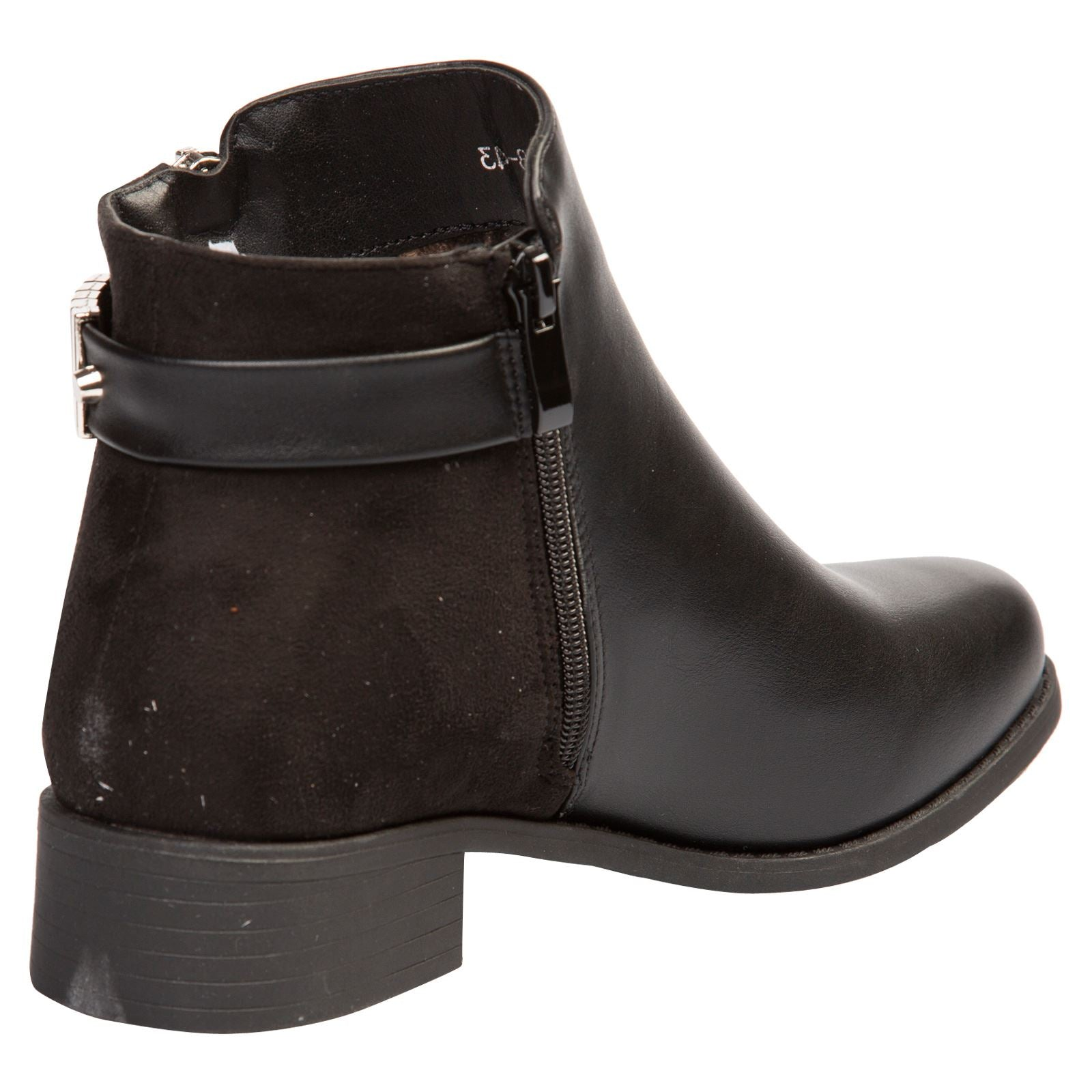 Daleyza Two-toned Ankle Boots in Black - Feet First Fashion