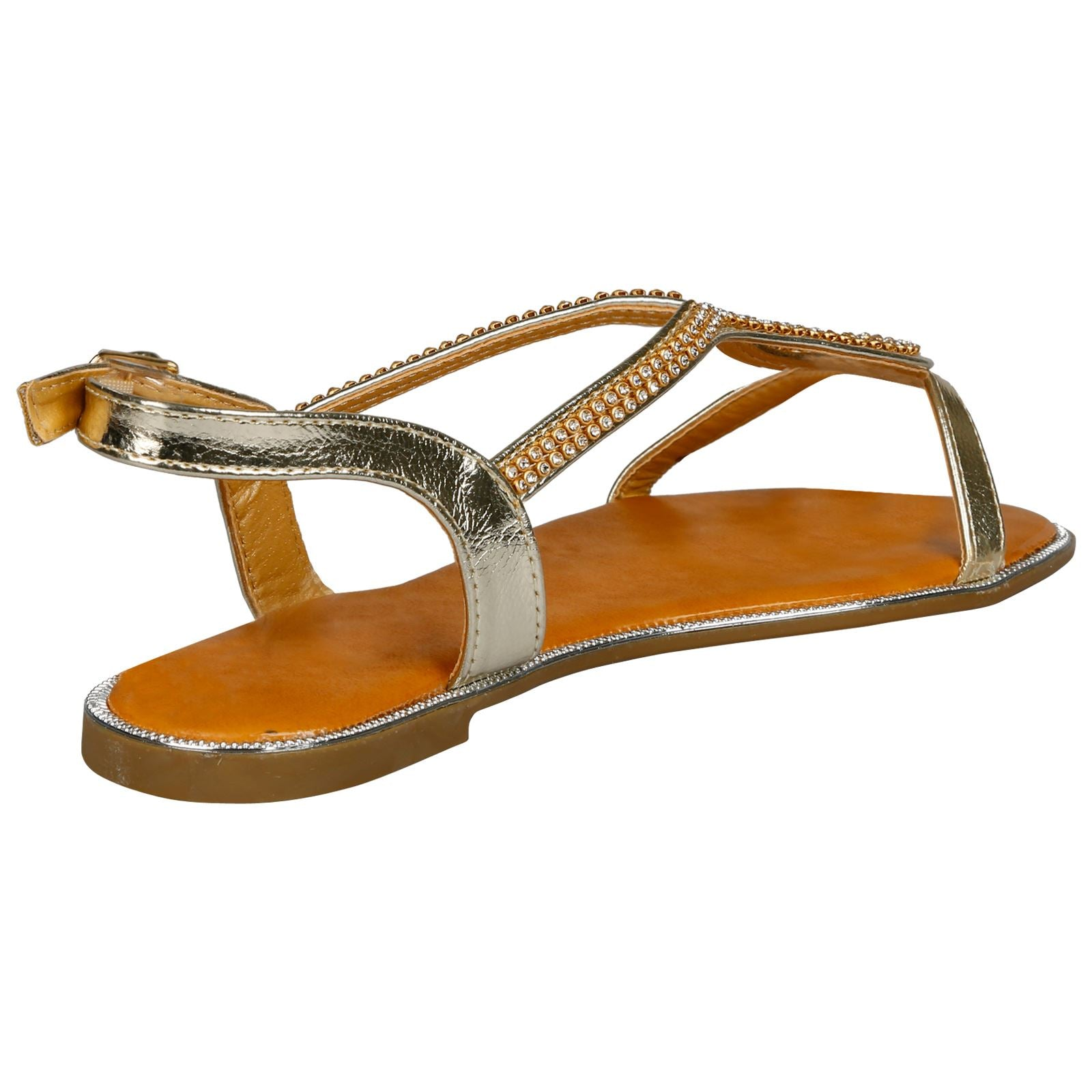Kadisha Diamante Sandals in Gold