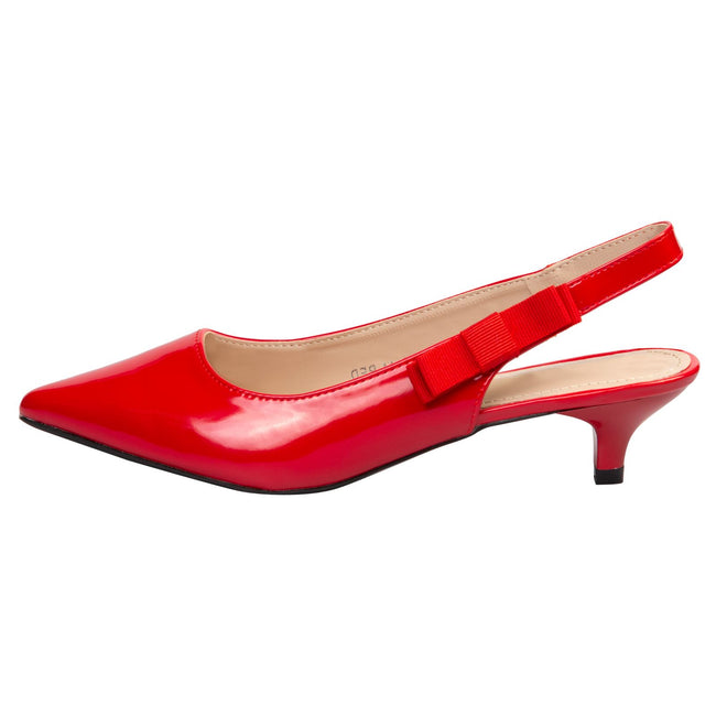 Alora Slingback Pumps in Red Patent - Feet First Fashion