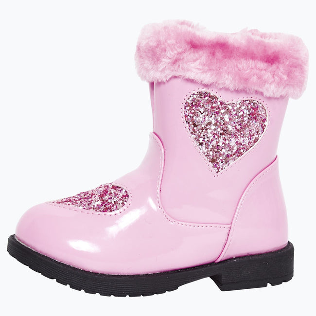 Brittany Girls Ankle Boots in Pink Patent - Feet First Fashion