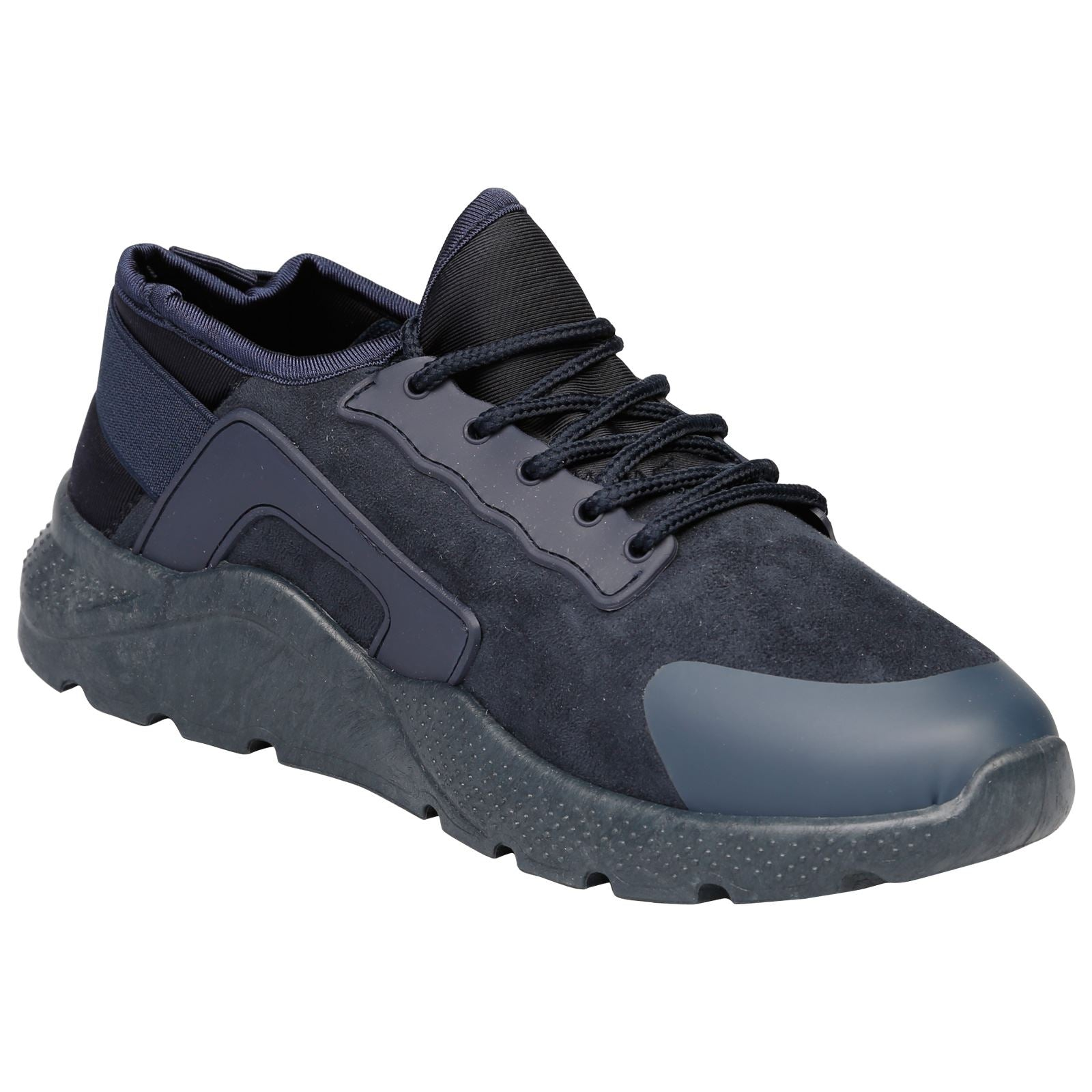 Danica Lace Up Trainers in Navy Blue - Feet First Fashion