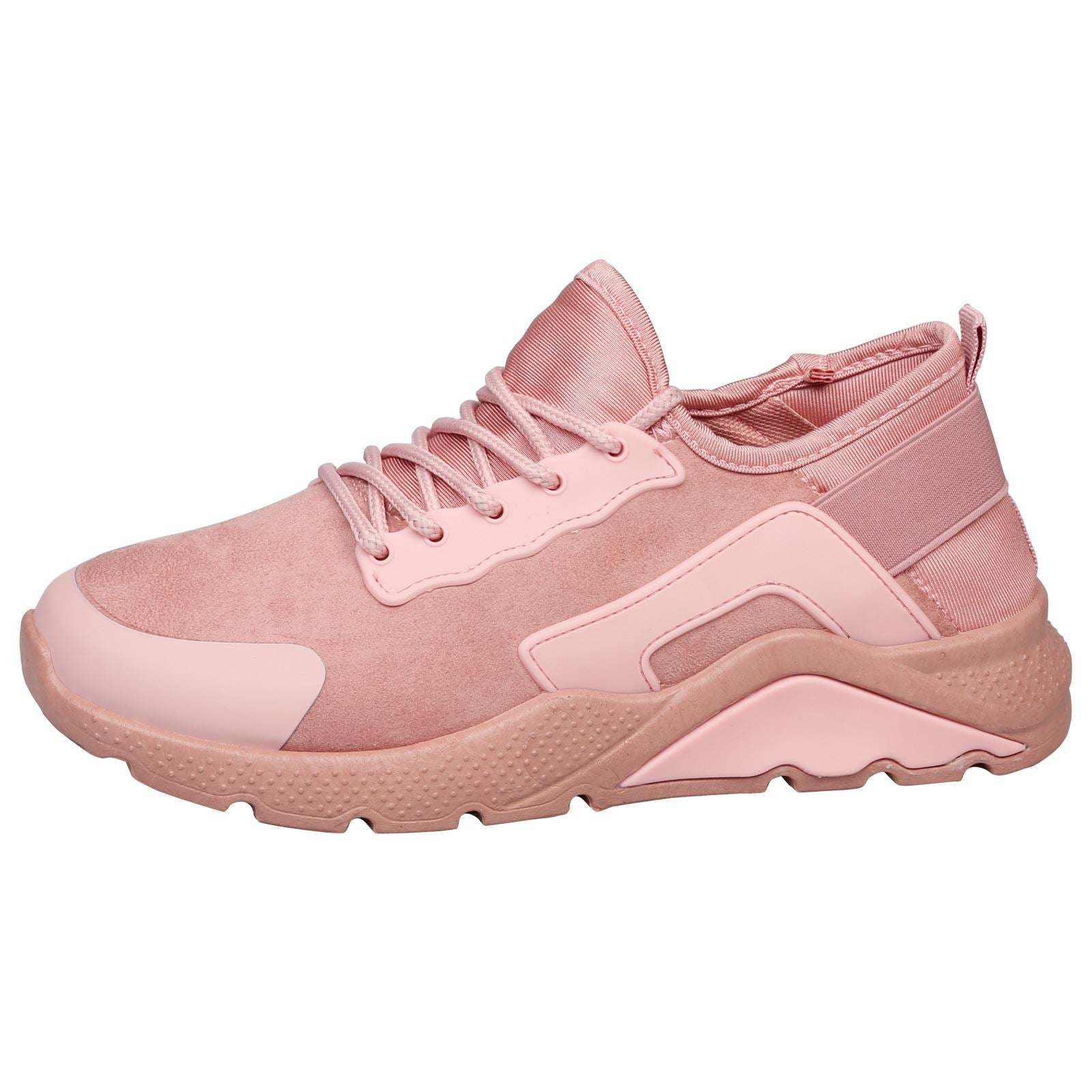 Danica Lace Up Trainers in Pink - Feet First Fashion