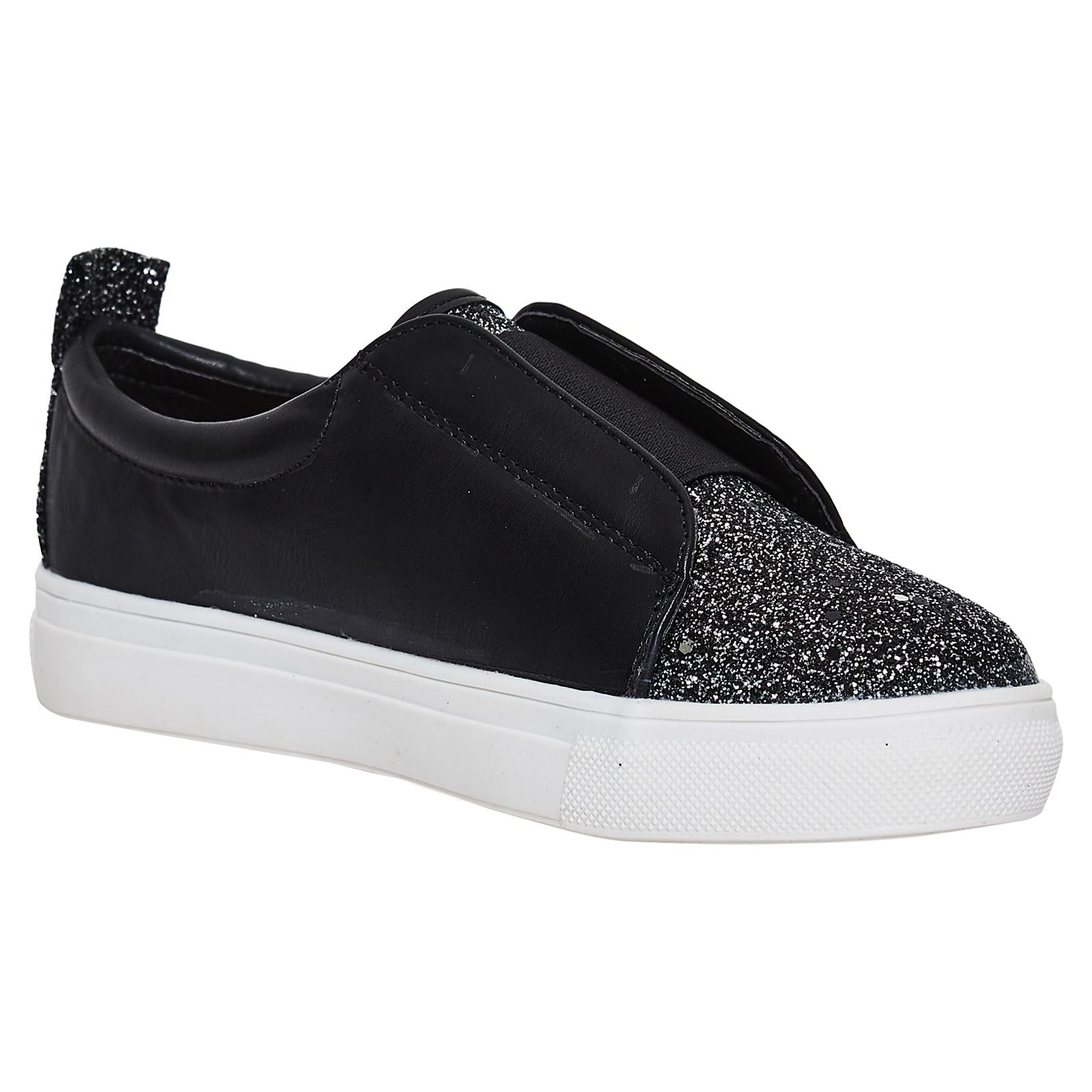 Hadleigh Girls Glittery Pumps in Black - Feet First Fashion