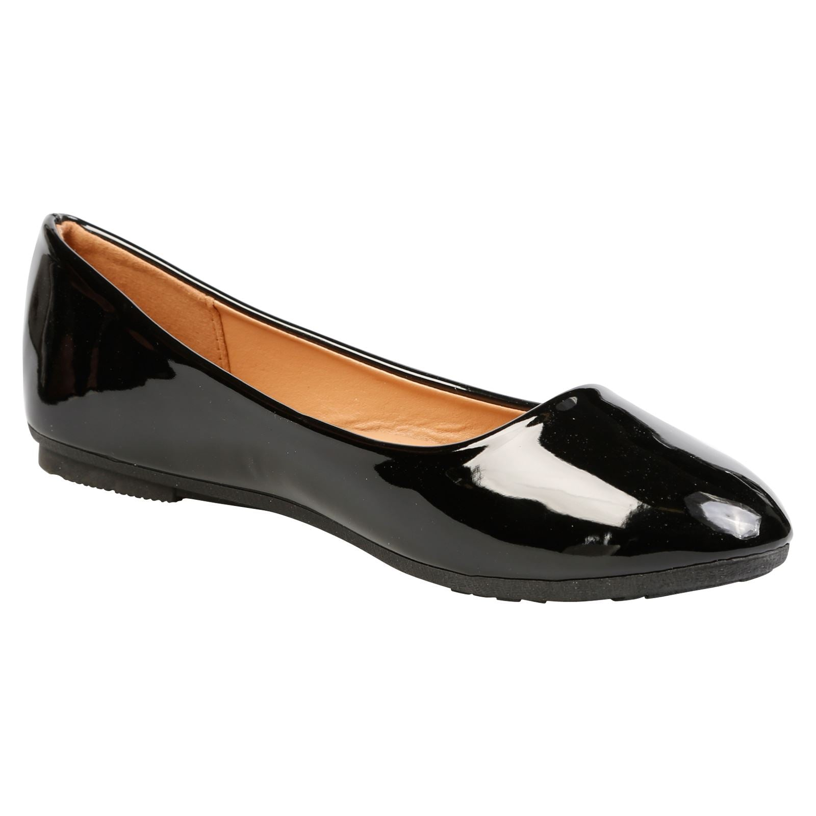 Thelma Ballet Flats in Black Patent