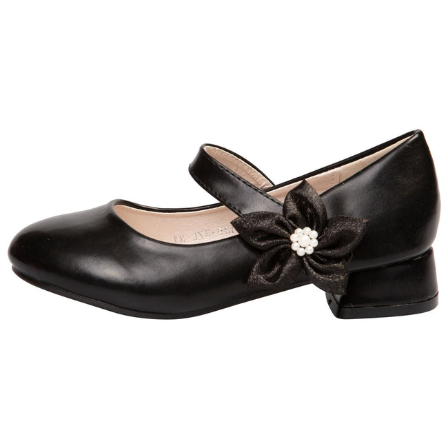 Luciana Girls Mary janes in Black Faux Leather - Feet First Fashion