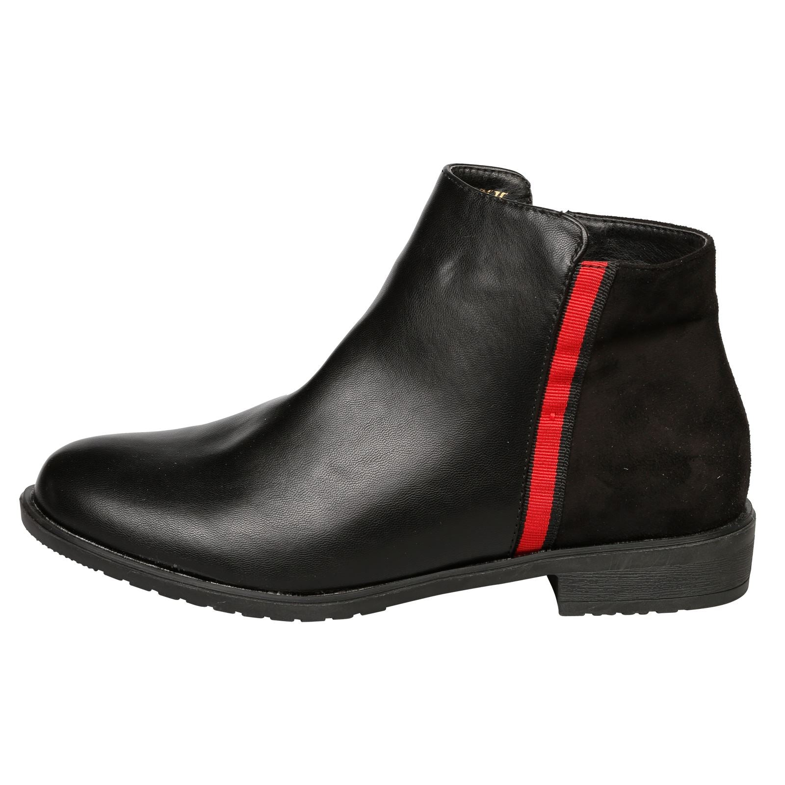 Harleigh Two Tone Ankle Boots in Black - Feet First Fashion