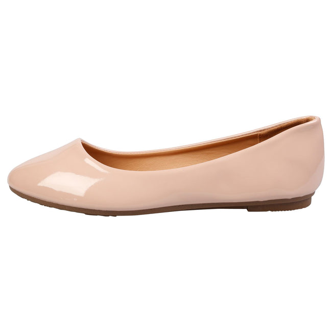 Thelma Ballet Flats in Pink Patent