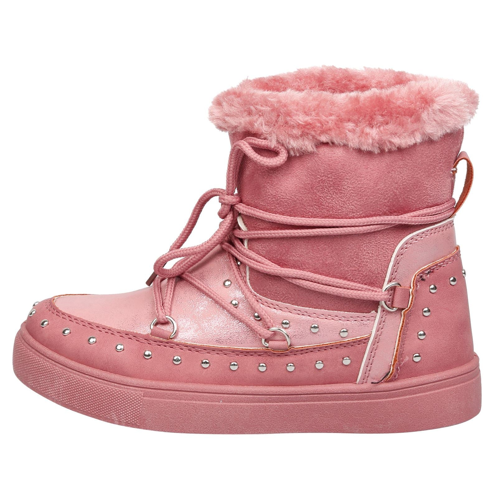 Cecilia Girls Fur Lined Boots in Pink