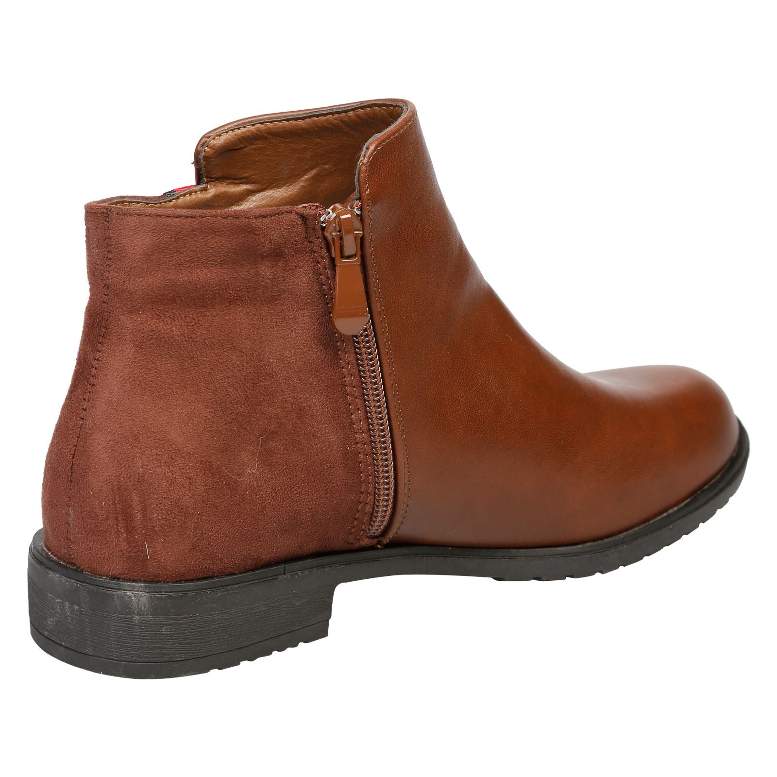 Harleigh Two Tone Ankle Boots in Brown - Feet First Fashion