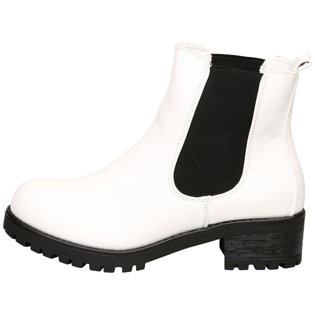 Adrienne Chelsea Ankle Boots  in White - Feet First Fashion