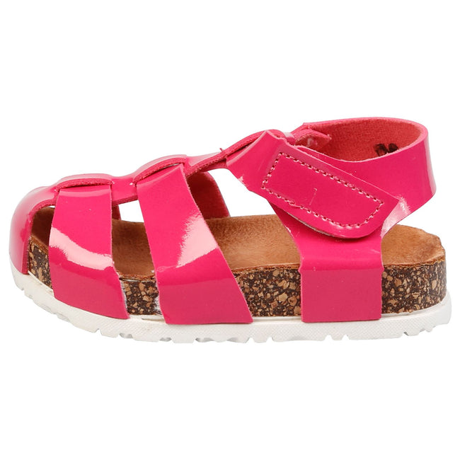 Poppy Girls Footbed Gladiator Sandals in Pink Patent - Feet First Fashion