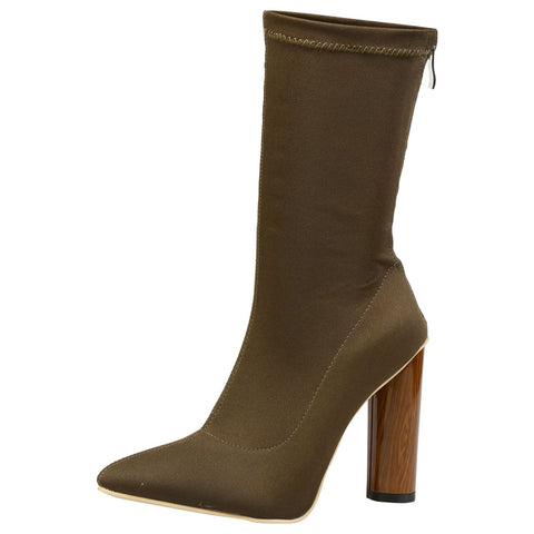 Judith Chelsea Ankle Boots in Camel Faux Leather