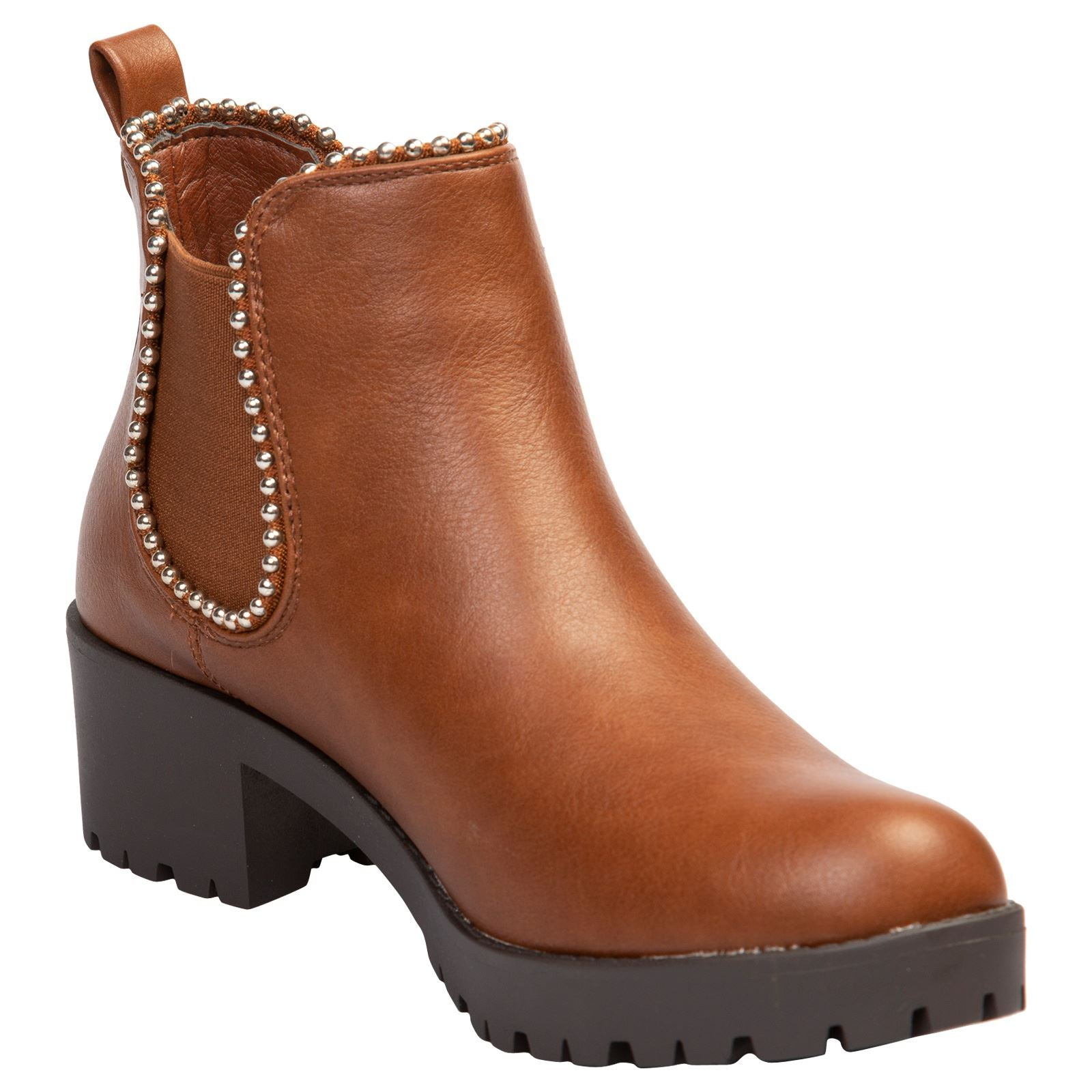 Judie Chelsea Ankle Boots in Camel Faux Leather - Feet First Fashion