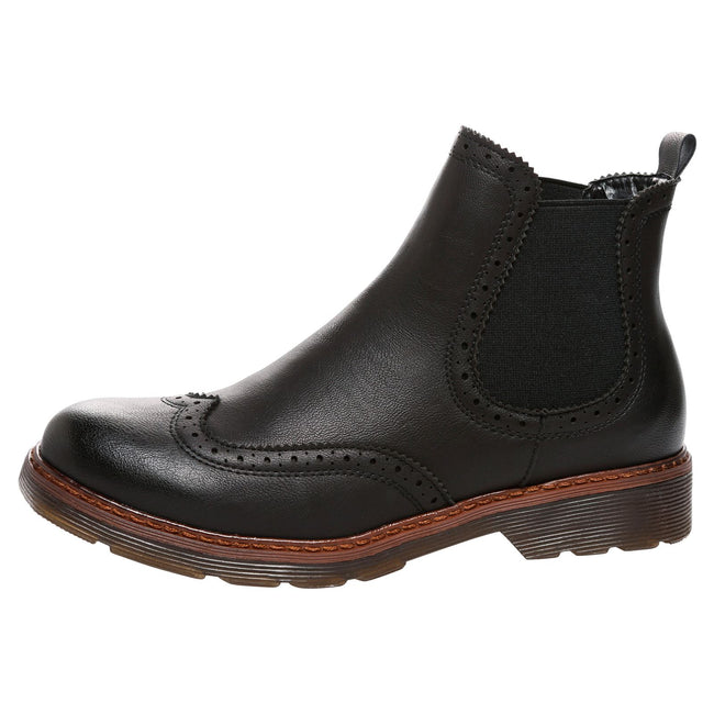 Nella Chelsea Ankle Boots in Black Faux Leather