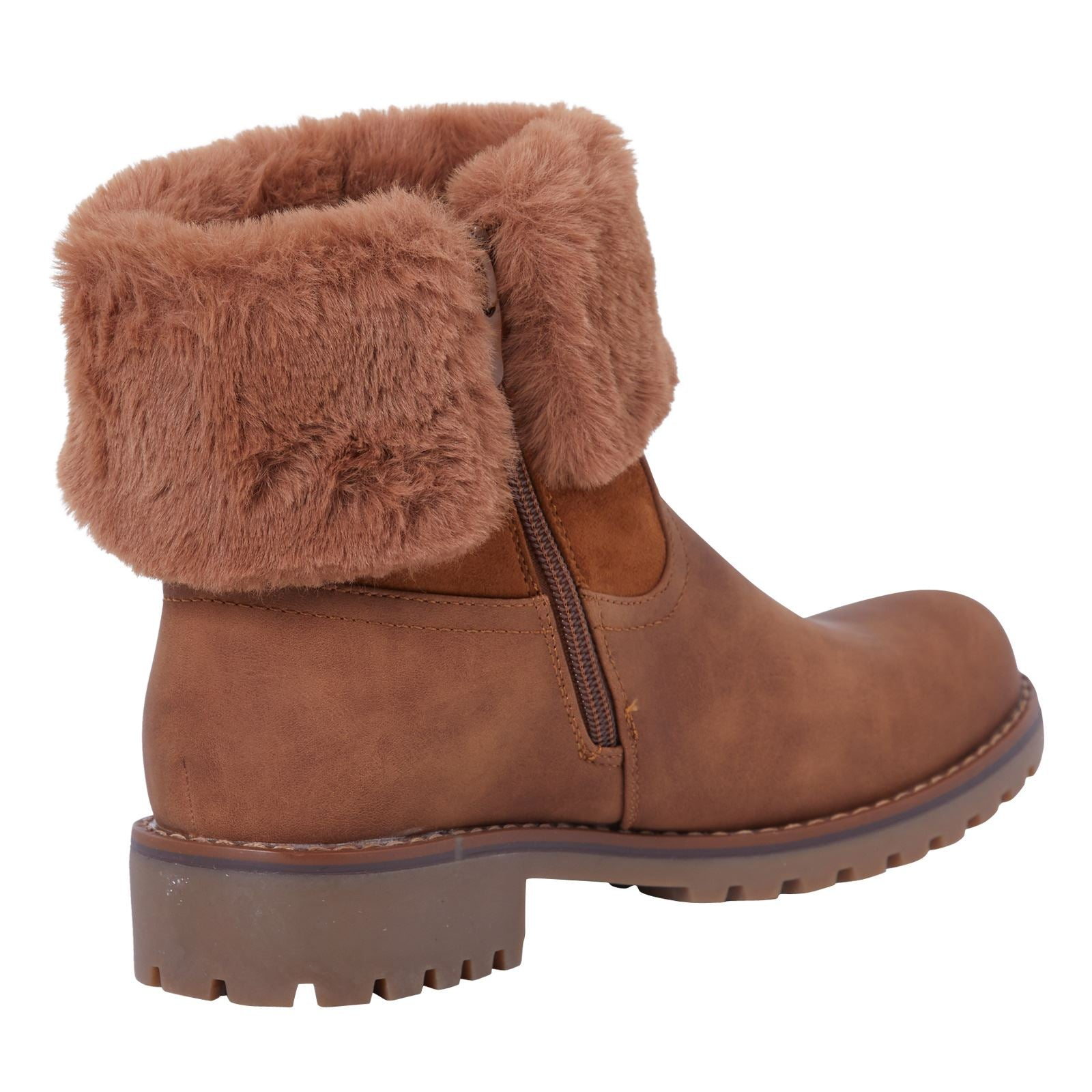 Annalee Fur Lined Ankle Boots in Camel Nubuck - Feet First Fashion