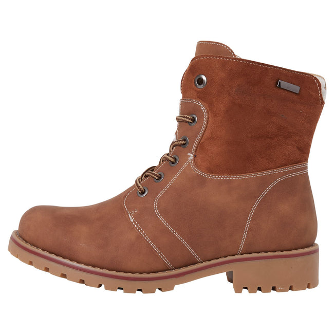 Monserrat Zip Up Combat Boots in Camel Nubuck - Feet First Fashion