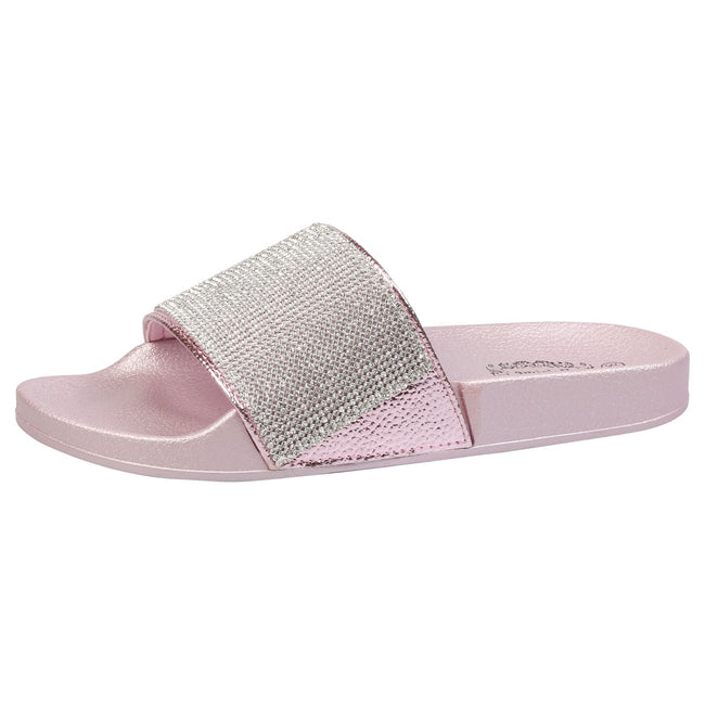 Dionne Diamante Sliders in Lilac