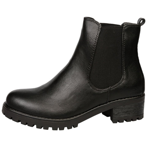 Alessia Two Tone Ankle Boots in Black