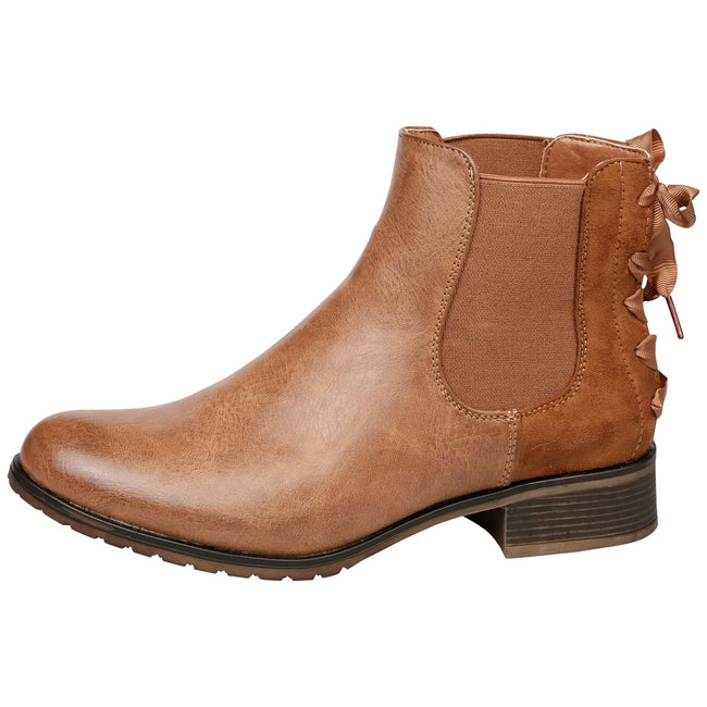 Alessia Two Tone Ankle Boots in Camel - Feet First Fashion