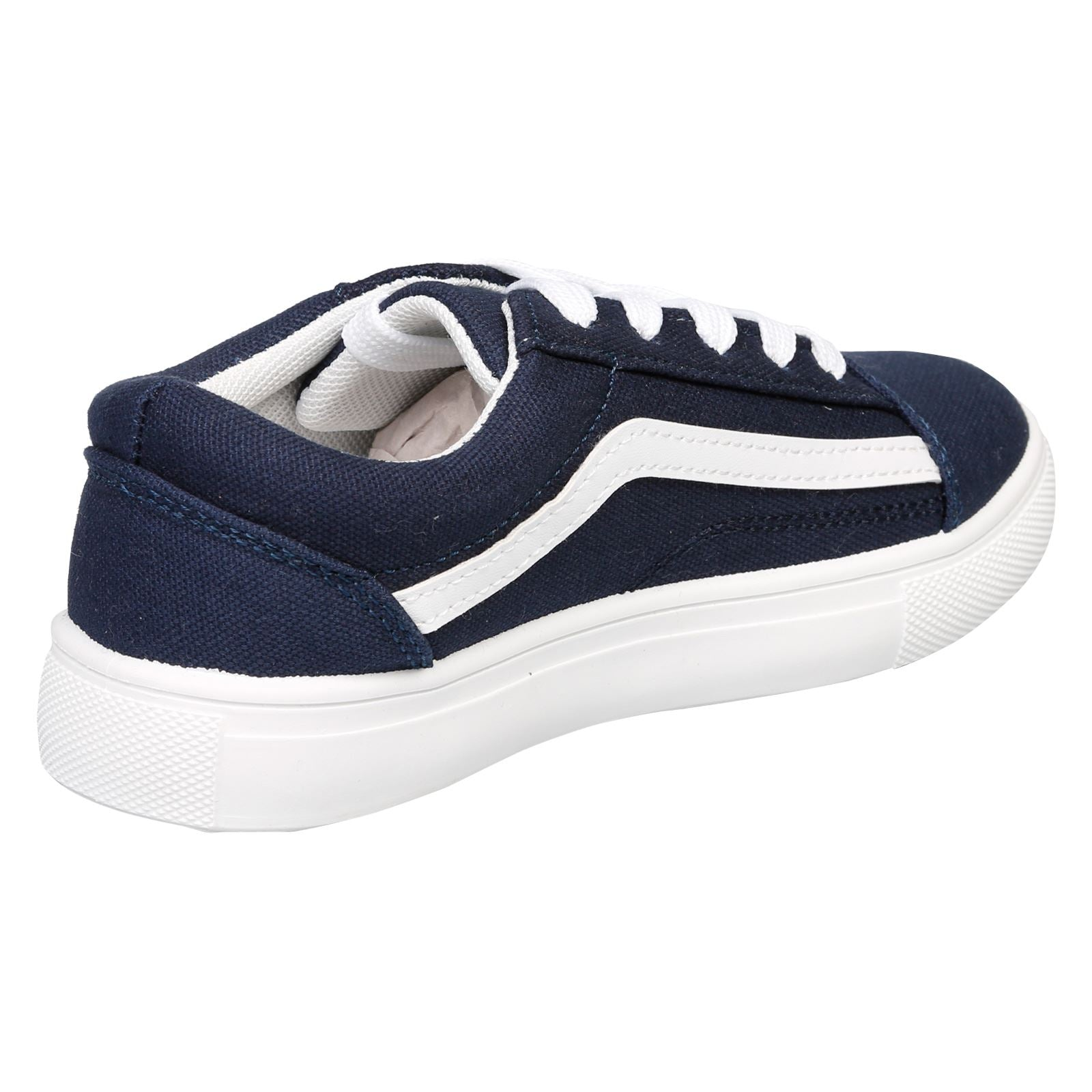 Hailee Girls Lace Up Trainers in Blue - Feet First Fashion