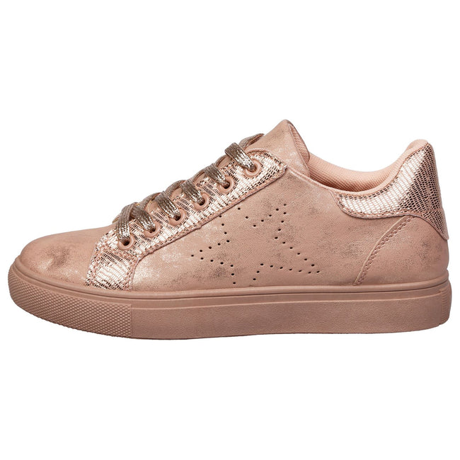 Drake Star Shimmer Trainers in Pink & Rose Gold