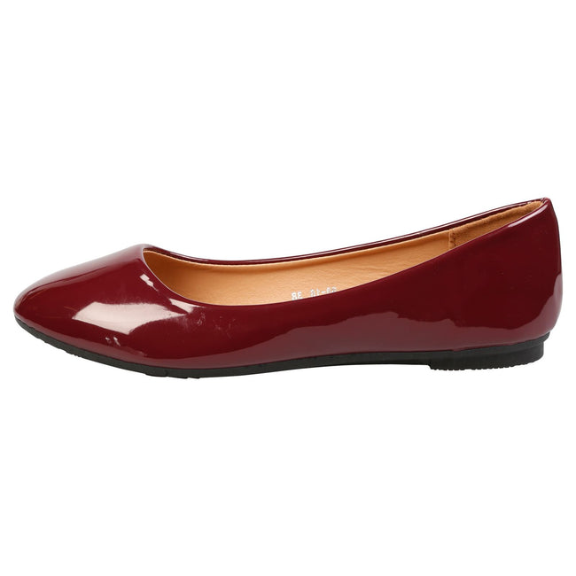Thelma Ballet Flats in Wine Patent