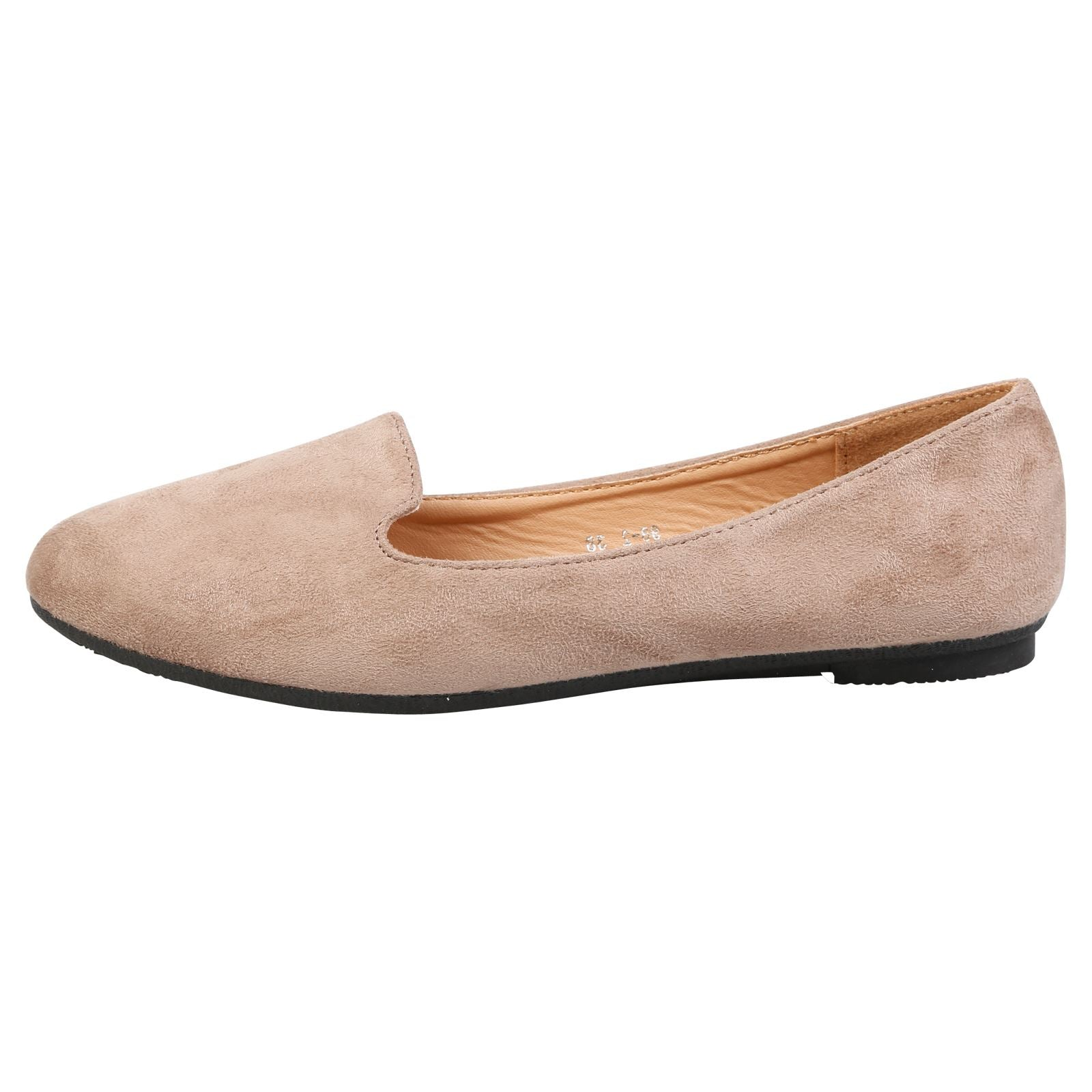 Antonia Loafer Flats in Tan Faux Suede