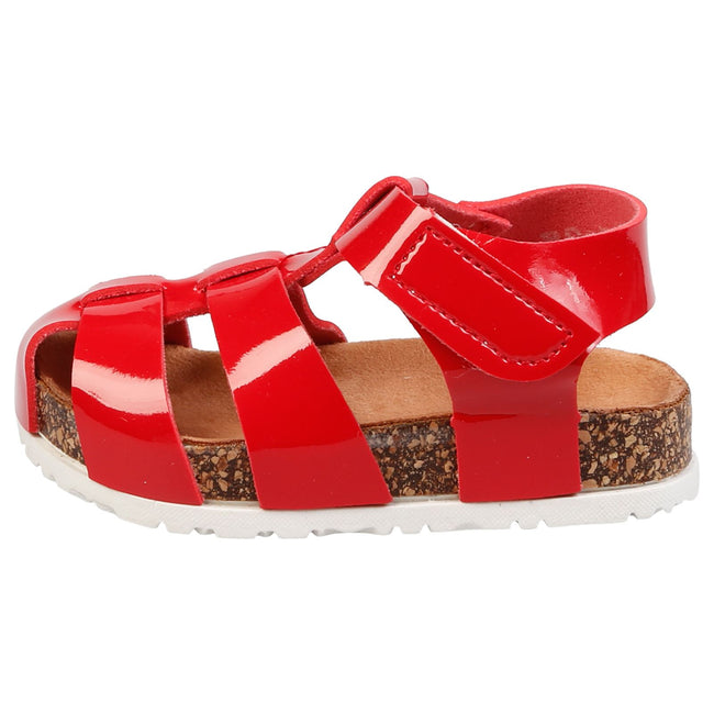 Poppy Girls Footbed Gladiator Sandals in Red Patent - Feet First Fashion