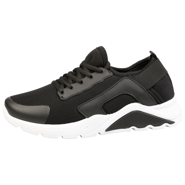 Tammy Lace Up Trainers in Black