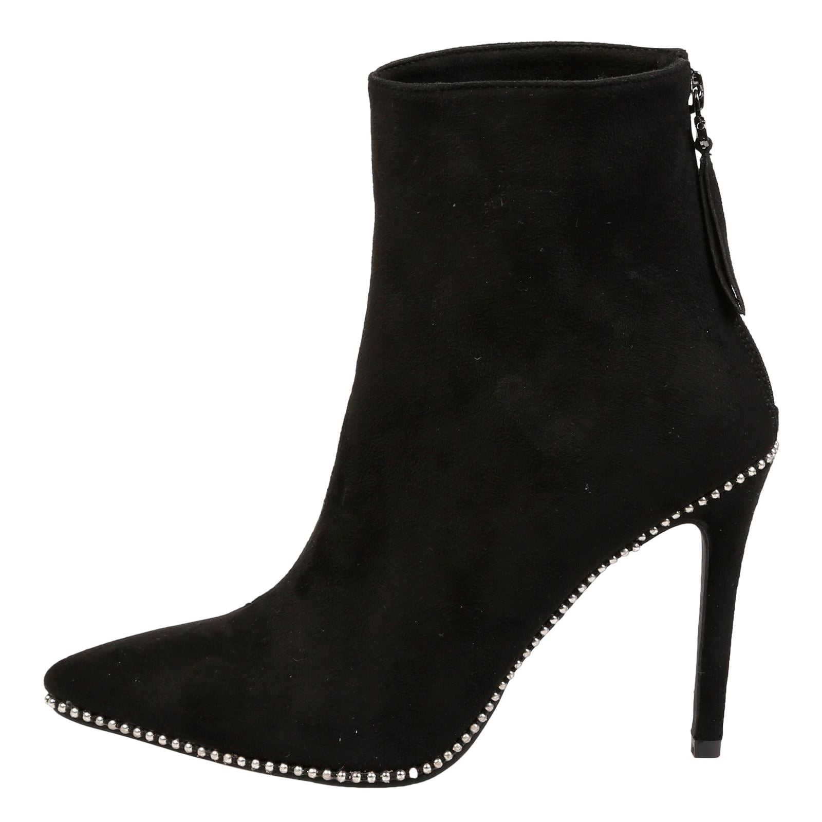 Emmie Stilleto Heel Ankle Boots in Black - Feet First Fashion