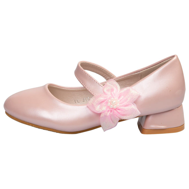 Luciana Girls Mary janes in Pink Faux Leather - Feet First Fashion