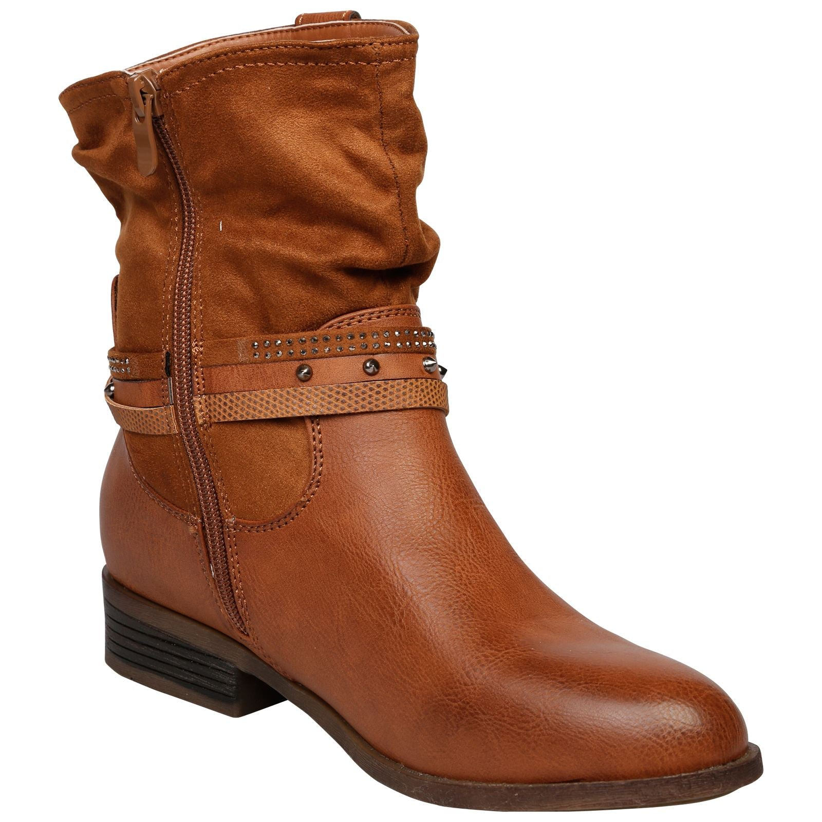 Dream Strappy Ankle Boots in Camel - Feet First Fashion
