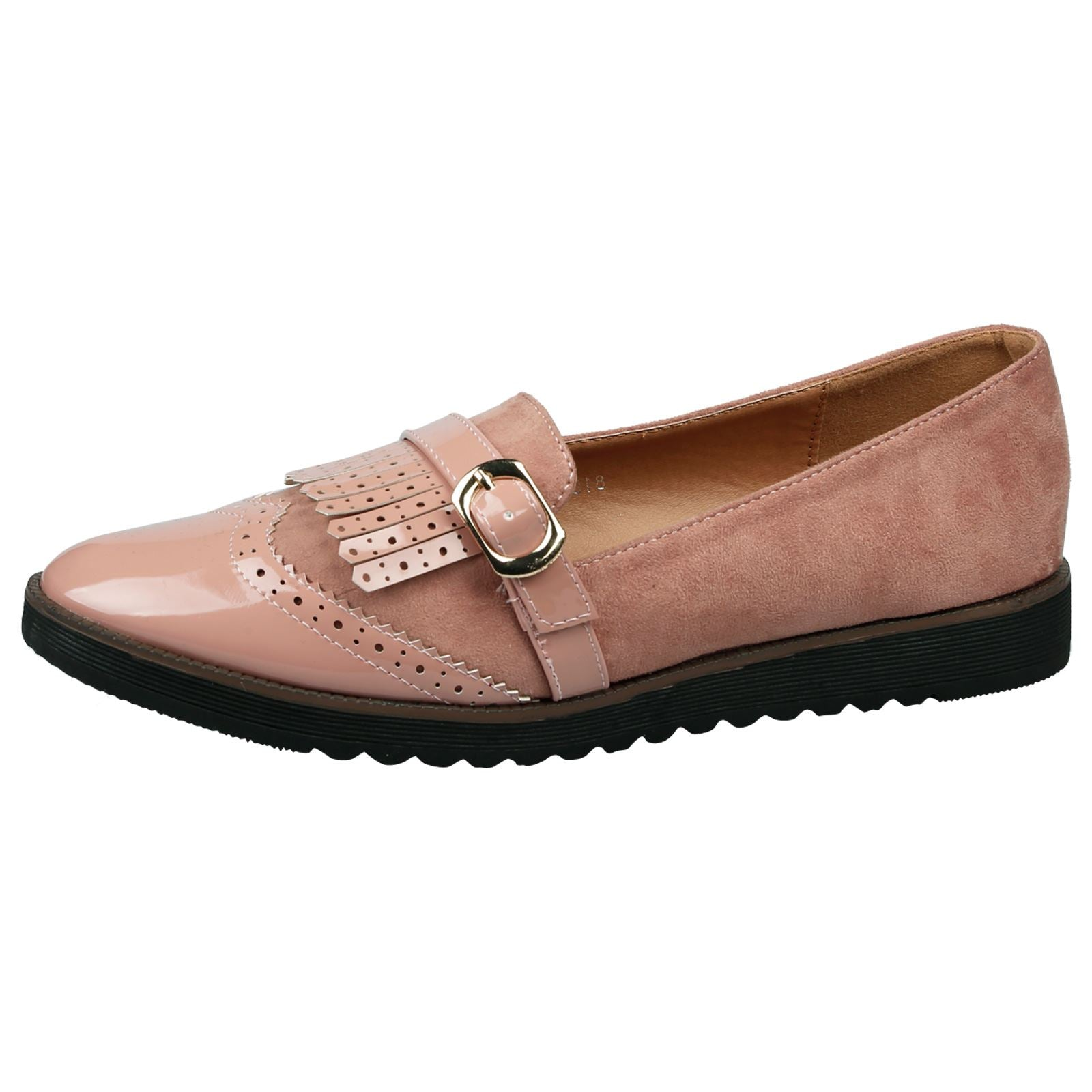 Bryn Fringed Loafers in Pink